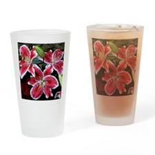 Lilly Explosion Drinking Glass