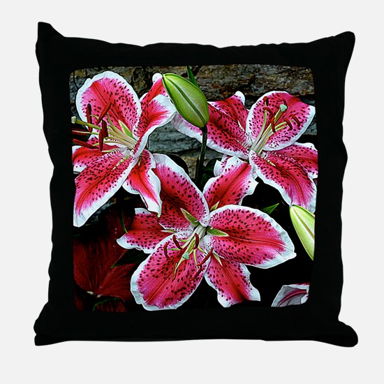Lilly Explosion Throw Pillow