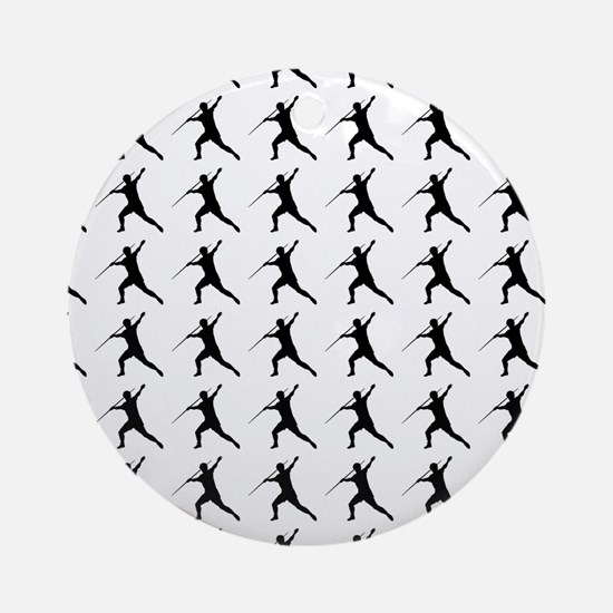 Javelin Throw Silhouette or Icon Round Ornament