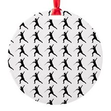 Javelin Throw Silhouette or Icon Ornament