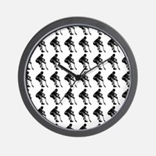 Hockey Player Silhouette or Icon Wall Clock