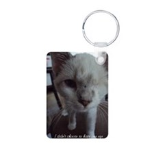Support disabled cats-I di Aluminum Photo Keychain