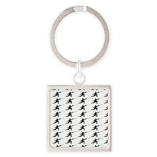 Fencing Silhouette or Icon Square Keychain