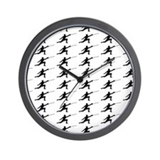 Fencing Silhouette or Icon Wall Clock