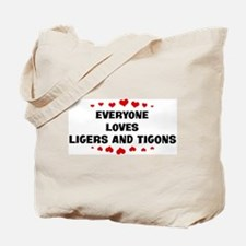 Loves: Ligers And Tigons Tote Bag