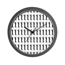 Golfing Silhouette or Icon Wall Clock