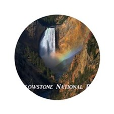 """Yellowstone National Park 3.5"""" Button"""