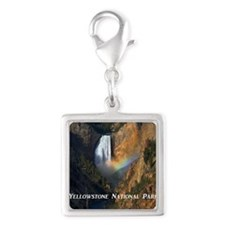 Yellowstone National Park Silver Square Charm
