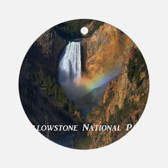 Yellowstone National Park Round Ornament