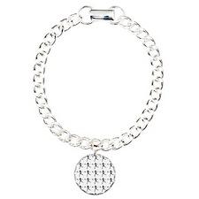 Girls Tennis Silhouette  Bracelet