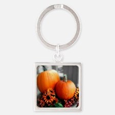 Autumn Daze Square Keychain