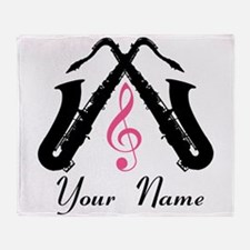 Personalized Saxophone Throw Blanket