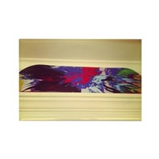 The other Damien Hirst spin art i Rectangle Magnet