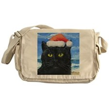 Santa Holiday Cat Messenger Bag