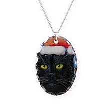 Santa Holiday Cat Necklace