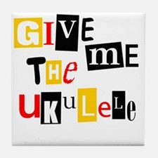 Ukulele Ransom Note Tile Coaster