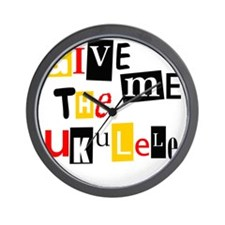 Ukulele Ransom Note Wall Clock