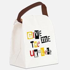 Ukulele Ransom Note Canvas Lunch Bag