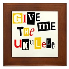 Ukulele Ransom Note Framed Tile