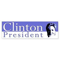 Clinton: President (bumper sticker)