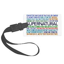 Supernatural TV Show Luggage Tag