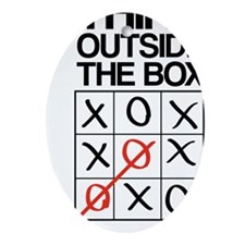 Think outside the box Oval Ornament