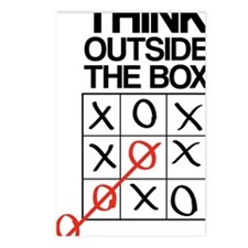 Think outside the box Postcards (Package of 8)