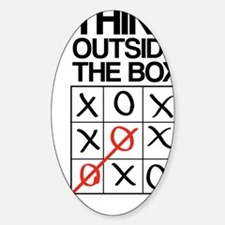 Think outside the box Sticker (Oval)