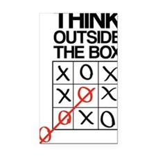 Think outside the box Rectangle Car Magnet