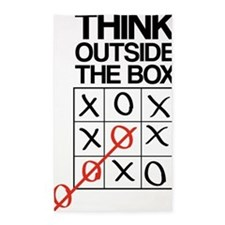 Think outside the box 3'x5' Area Rug