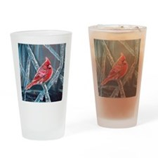 Cardinal On Ice, 2 Drinking Glass