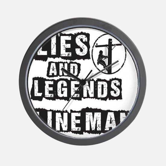 Lies and Legends Lineman Wall Clock