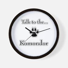 Komondor Talk Wall Clock