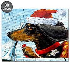 Holiday Dachshund Puzzle