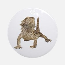 Bearded Dragon Photo Ornament (Round)