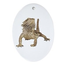 Bearded Dragon Photo Oval Ornament