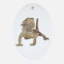 Bearded Dragon Photo Oval Ornament