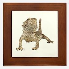 Bearded Dragon Photo Framed Tile