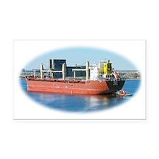 Salt water ship Emile gets a  Rectangle Car Magnet