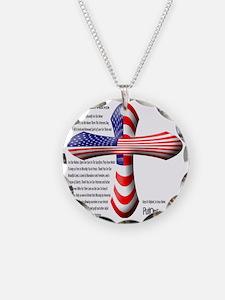 PutonFaith Patriotic Cross + Necklace