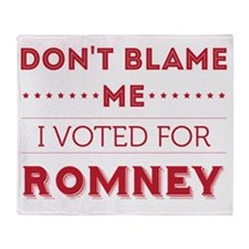 dontblame_FINAL_romney Throw Blanket