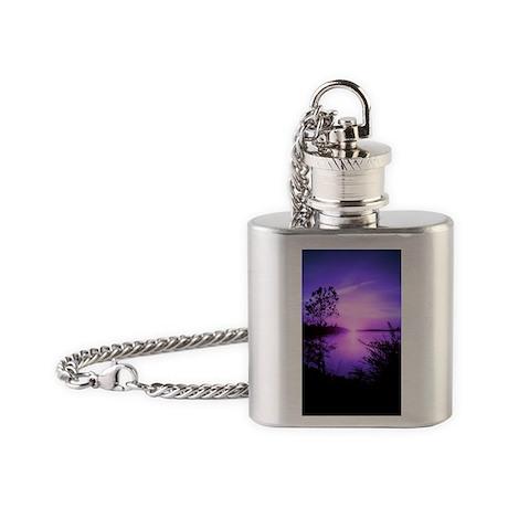 Purple Set Flask Necklace