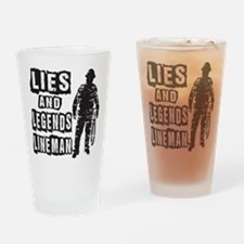 Lies and Legends Lineman Drinking Glass
