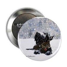 "Scottish Terrier Christmas 2.25"" Button"