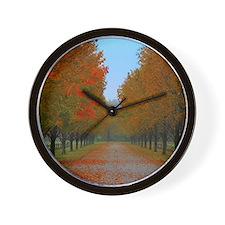 Dreamy Fall New England Drive Wall Clock