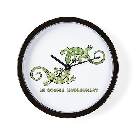 2 Lizards Wall Clock