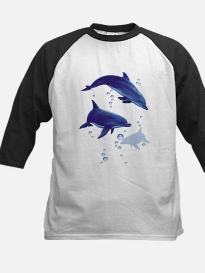 Blue dolphins Kids Baseball Jersey