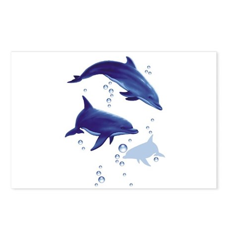 Blue dolphins Postcards (Package of 8)