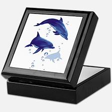 Blue dolphins Keepsake Box