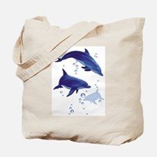 Blue dolphins Tote Bag